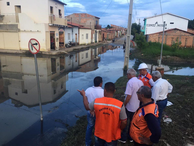 Equipe da Superintendência de Proteção e Defesa Civil do Estado realiza vistoria nos pontos afetados pelas chuvas em Barra